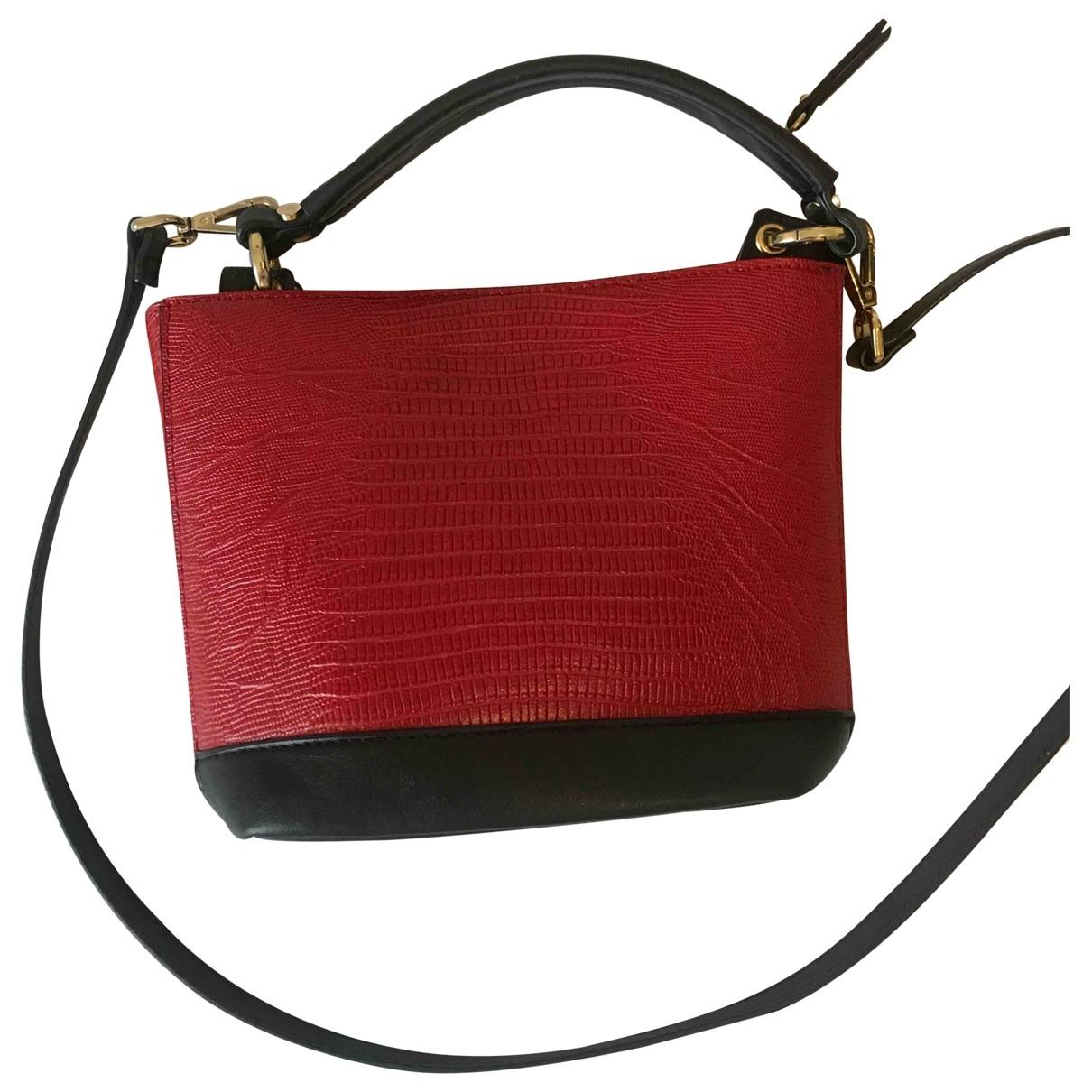 Zara \N Handtasche in  Rot Lackleder