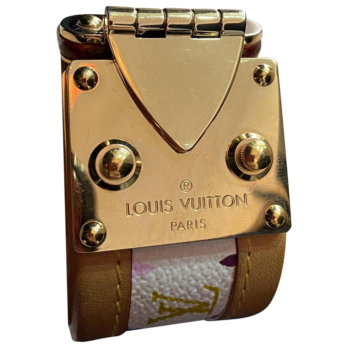 Louis Vuitton - Bracelet   pour femme en cuir - beige