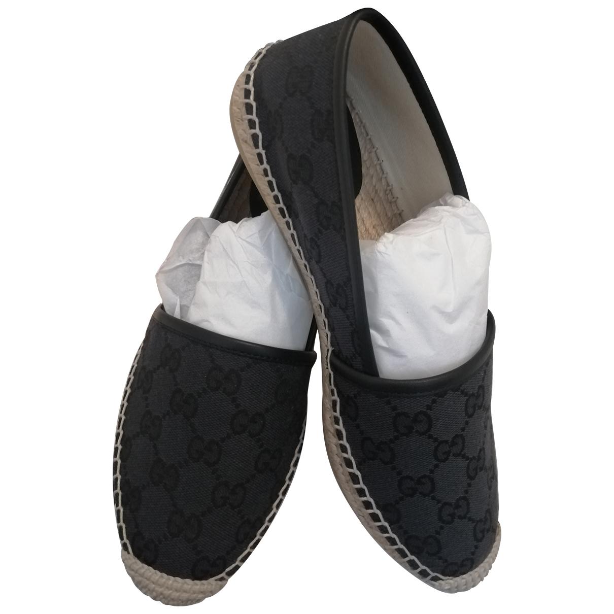Gucci \N Espadrilles in  Schwarz Denim - Jeans