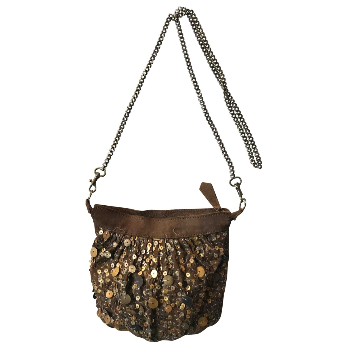 Antik Batik \N Clutch in  Braun Veloursleder