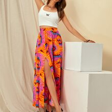 M-slit Tie Dye Maxi Skirt