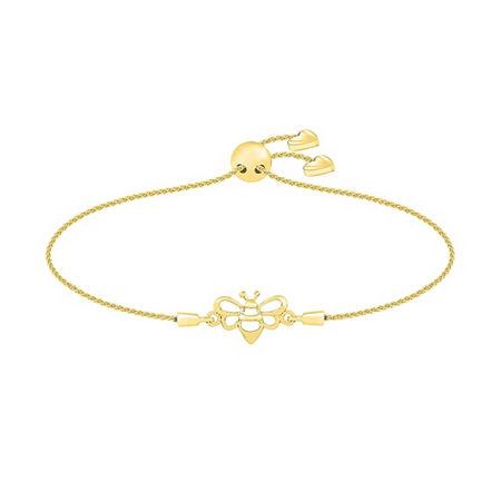 10K Gold Bolo Bracelet, One Size , No Color Family