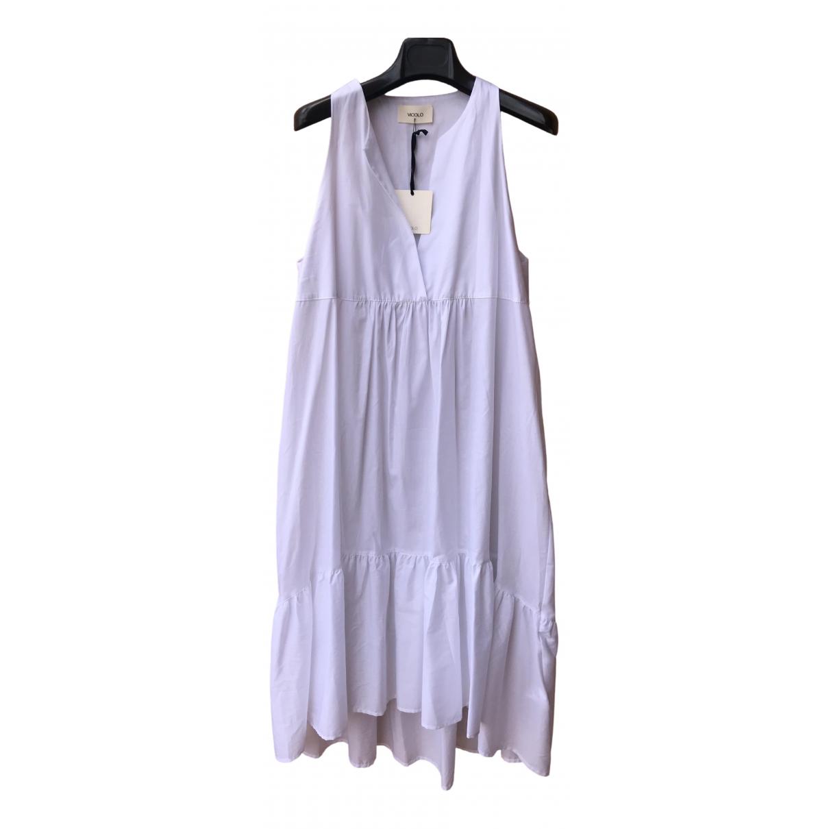 Vicolo \N Kleid in  Weiss Baumwolle