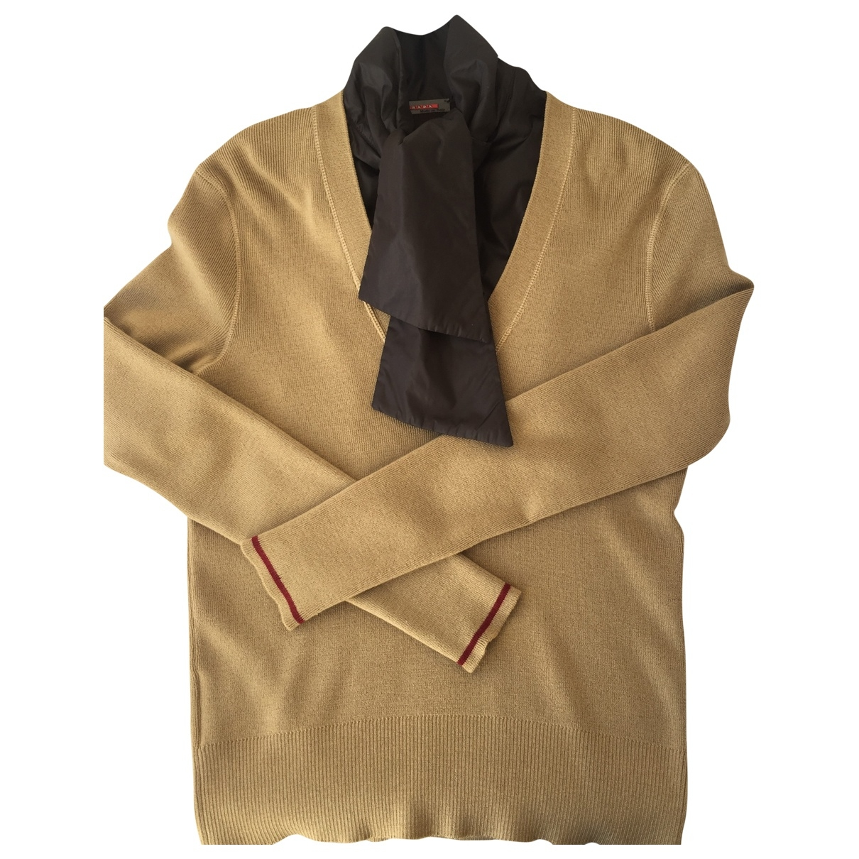 Prada \N Camel Wool Knitwear for Women 42 IT
