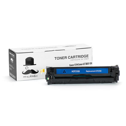 Compatible Canon ImageClass MF624CW Toner 131H 6273B001AA Black High Yield - Moustache