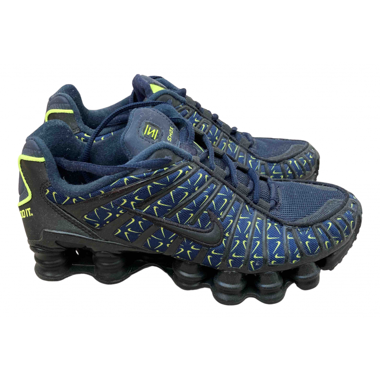 Nike Shox Navy Cloth Trainers for Women 39 EU