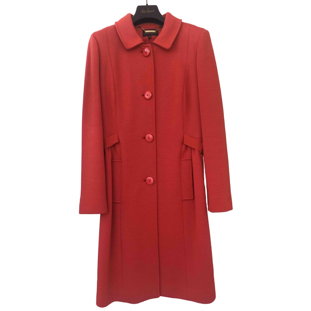 Non Signé / Unsigned \N Red Wool coat for Women M International