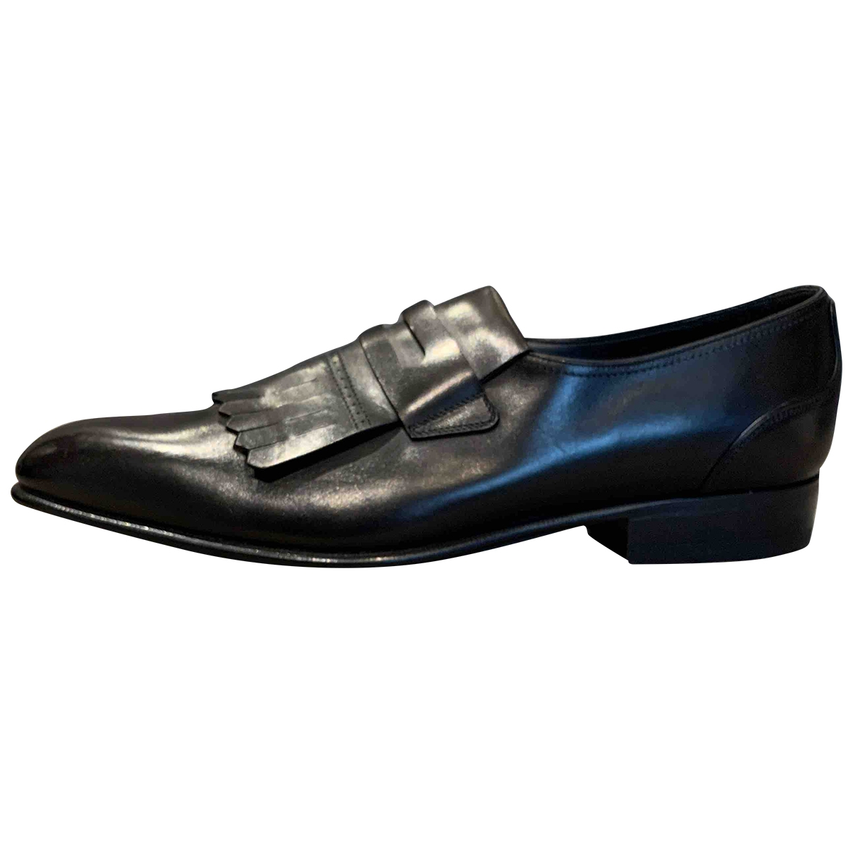 Sergio Rossi \N Black Leather Flats for Men 41.5 EU
