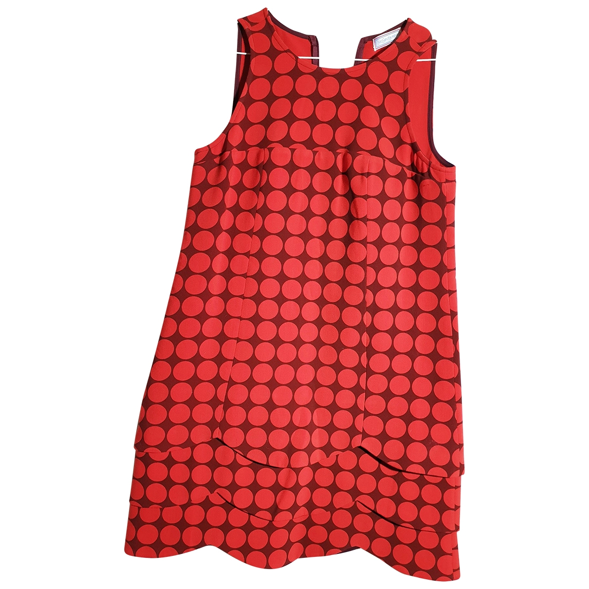Yves Saint Laurent - Robe   pour femme en coton - rouge
