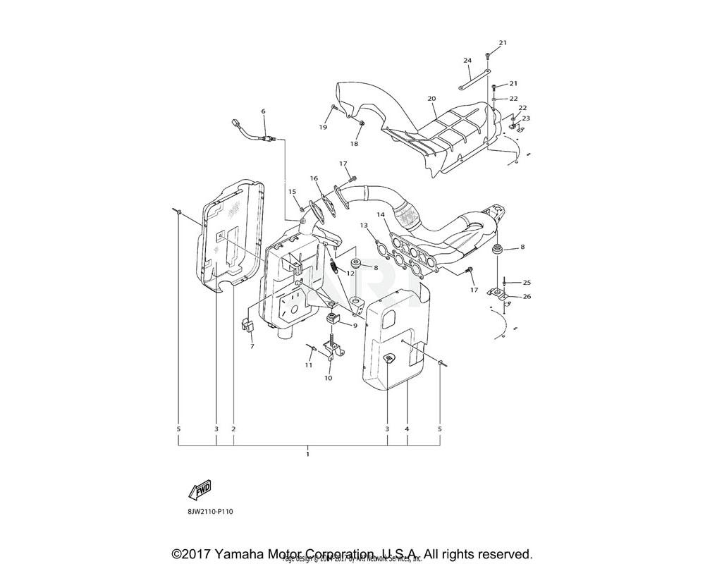 Yamaha OEM 8JP-E461L-00-00 BRACKET, 1-1