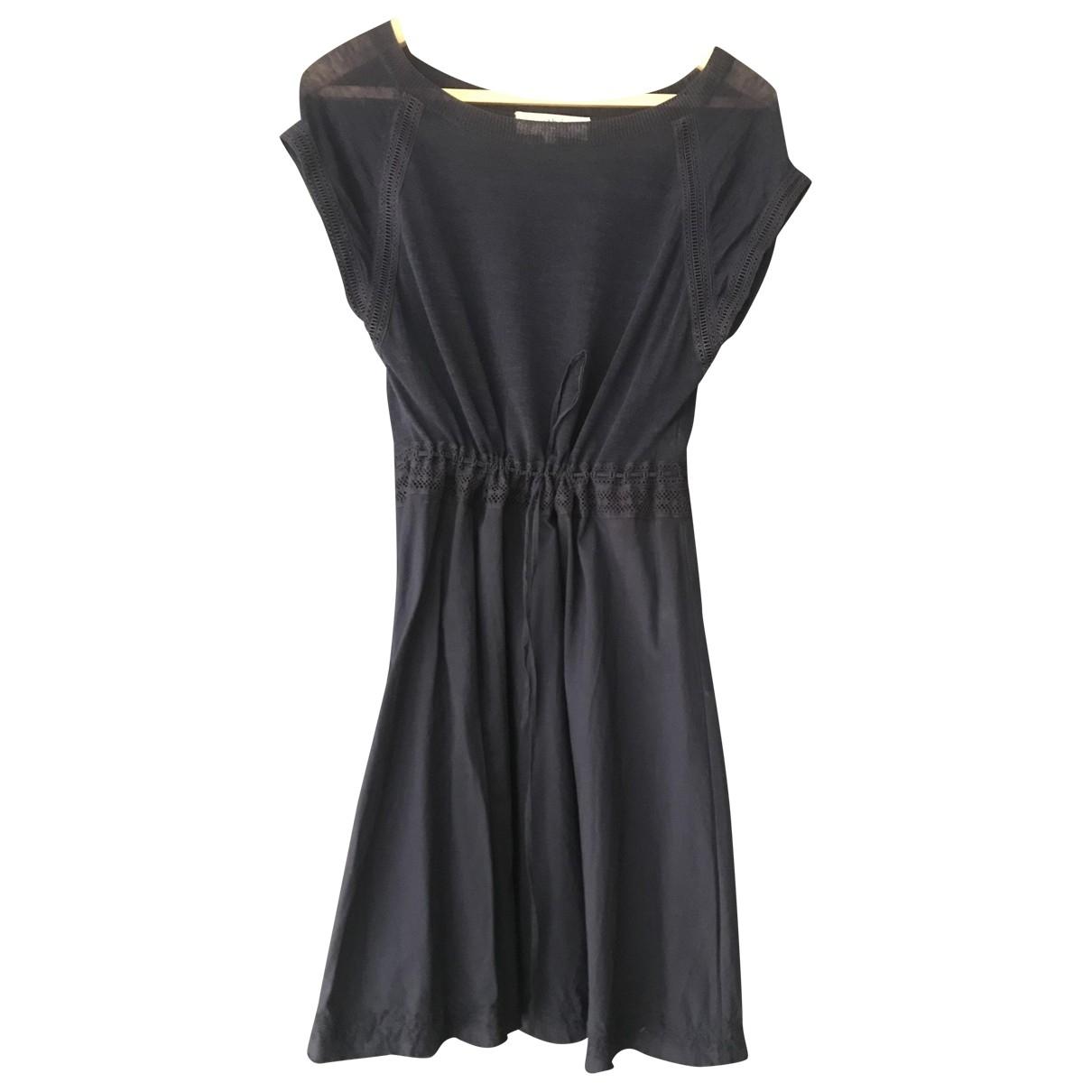 Vanessa Bruno Athe \N Kleid in  Blau Baumwolle