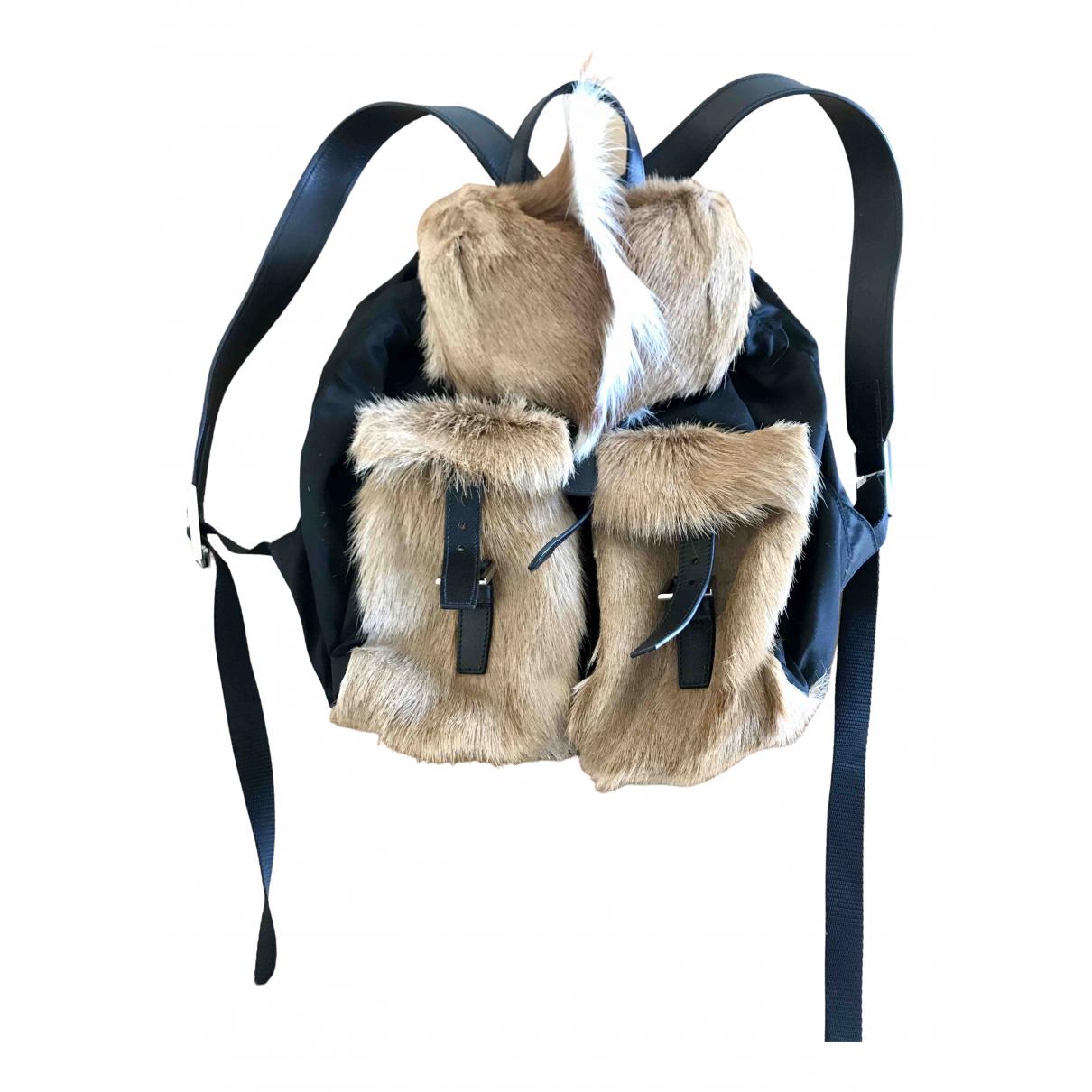 Prada N Black Fur backpack for Women N