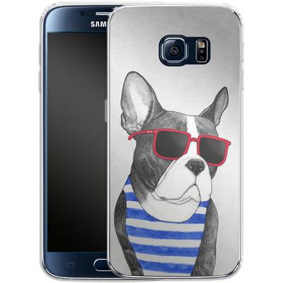 Samsung Galaxy S6 Silikon Handyhuelle - Frenchie Summer Style von Barruf