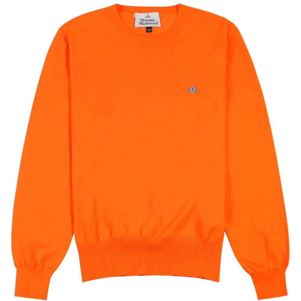 Vivienne Westwood Classic Knit Jumper  Colour: ORANGE, Size: LARGE