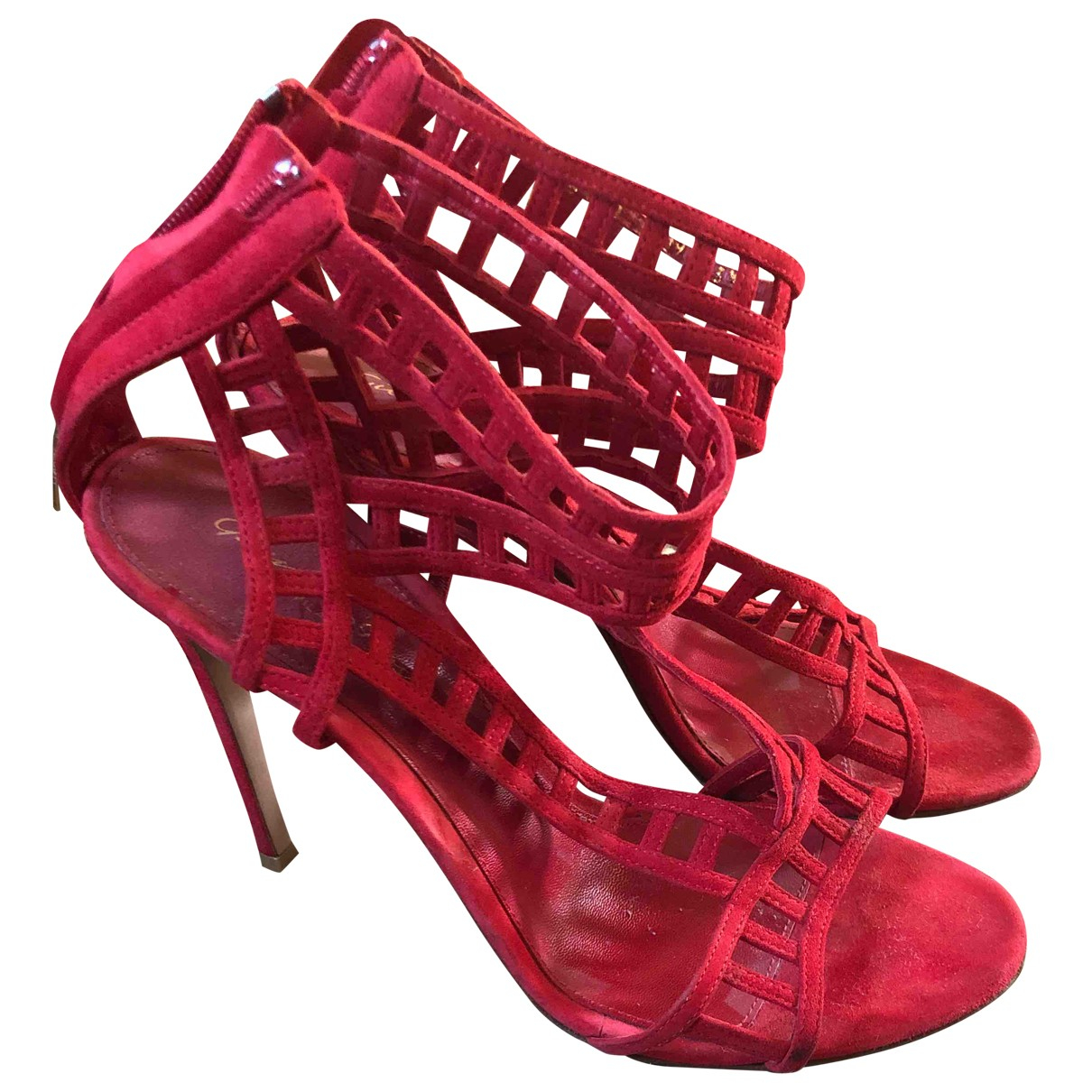 Gianvito Rossi \N Red Suede Sandals for Women 39 IT