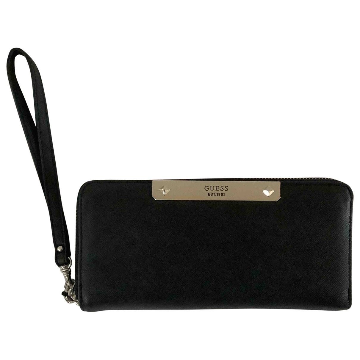 Guess \N Black Leather wallet for Women \N