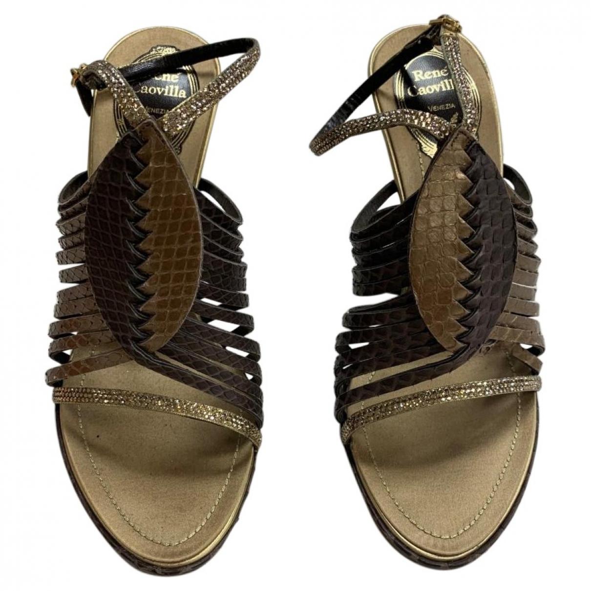Rene Caovilla \N Brown Leather Sandals for Women 39 EU