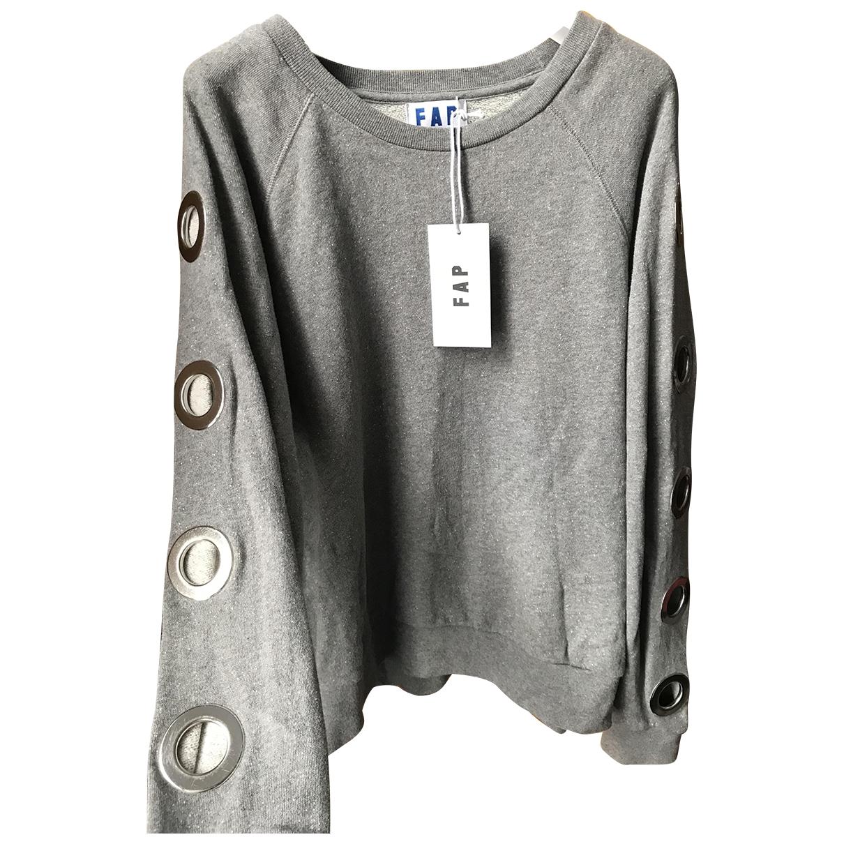 Filles A Papa - Top   pour femme en coton - gris