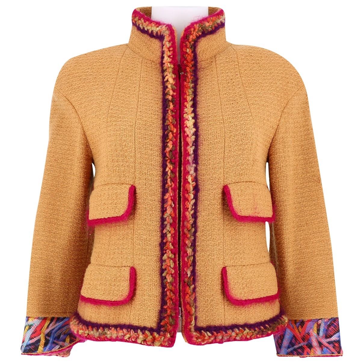 Chanel \N Yellow Tweed jacket for Women 38 FR