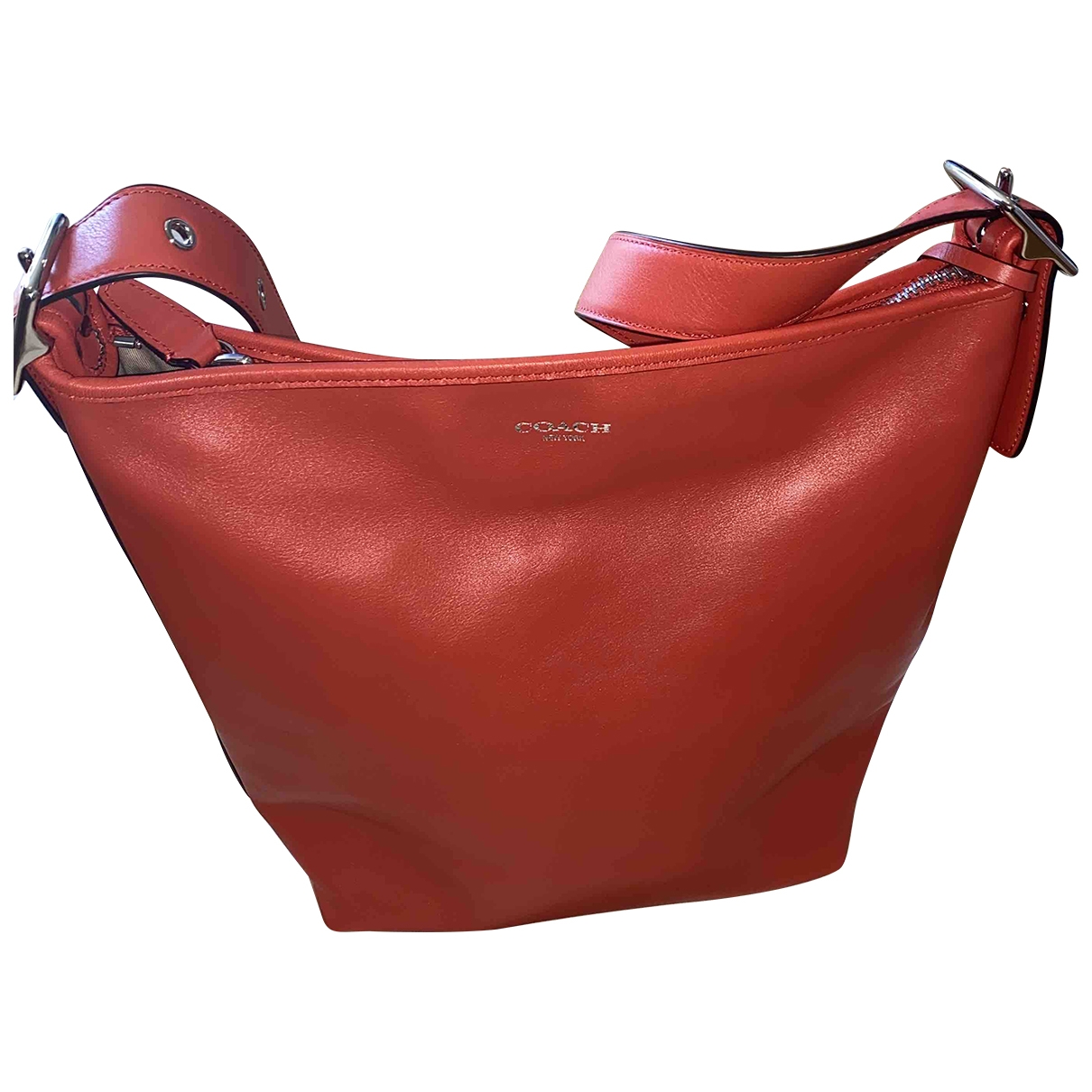 Coach Scout Hobo  Red Patent leather handbag for Women \N