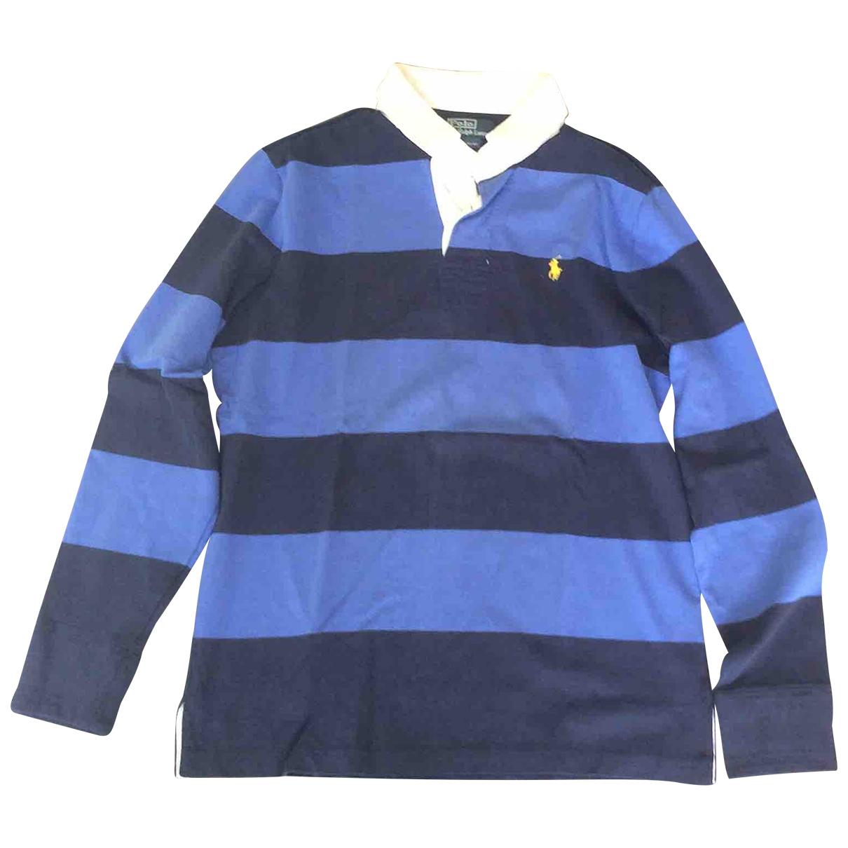 Polo Polo classique manches longues en Algodon Azul Polo Ralph Lauren