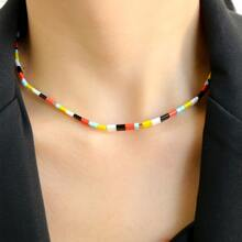 1pc Colorblock Necklace