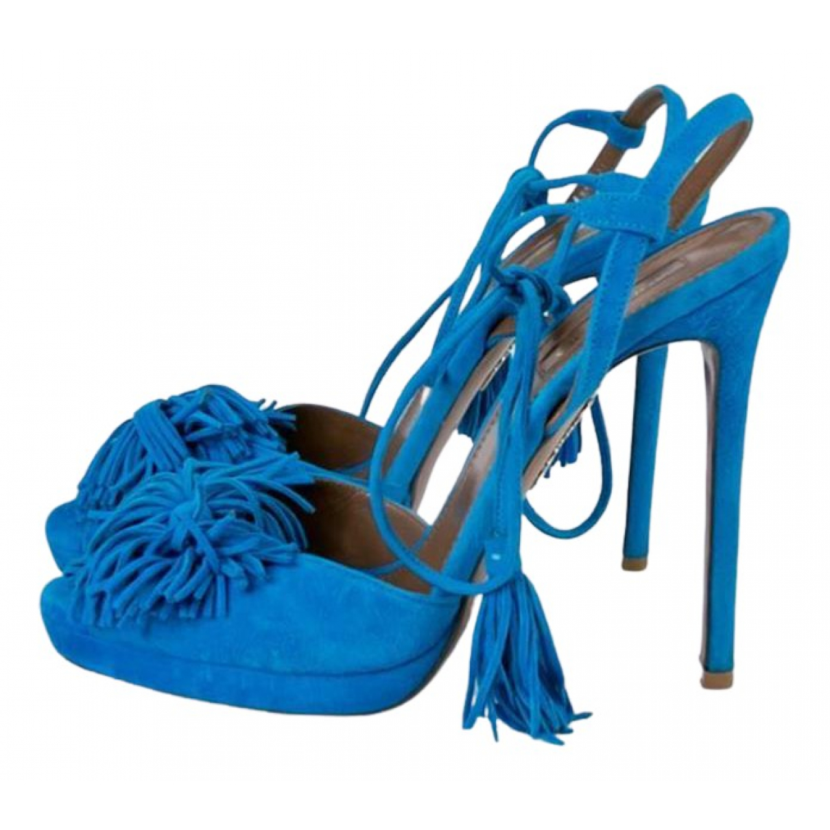 Aquazzura \N Sandalen in  Blau Veloursleder