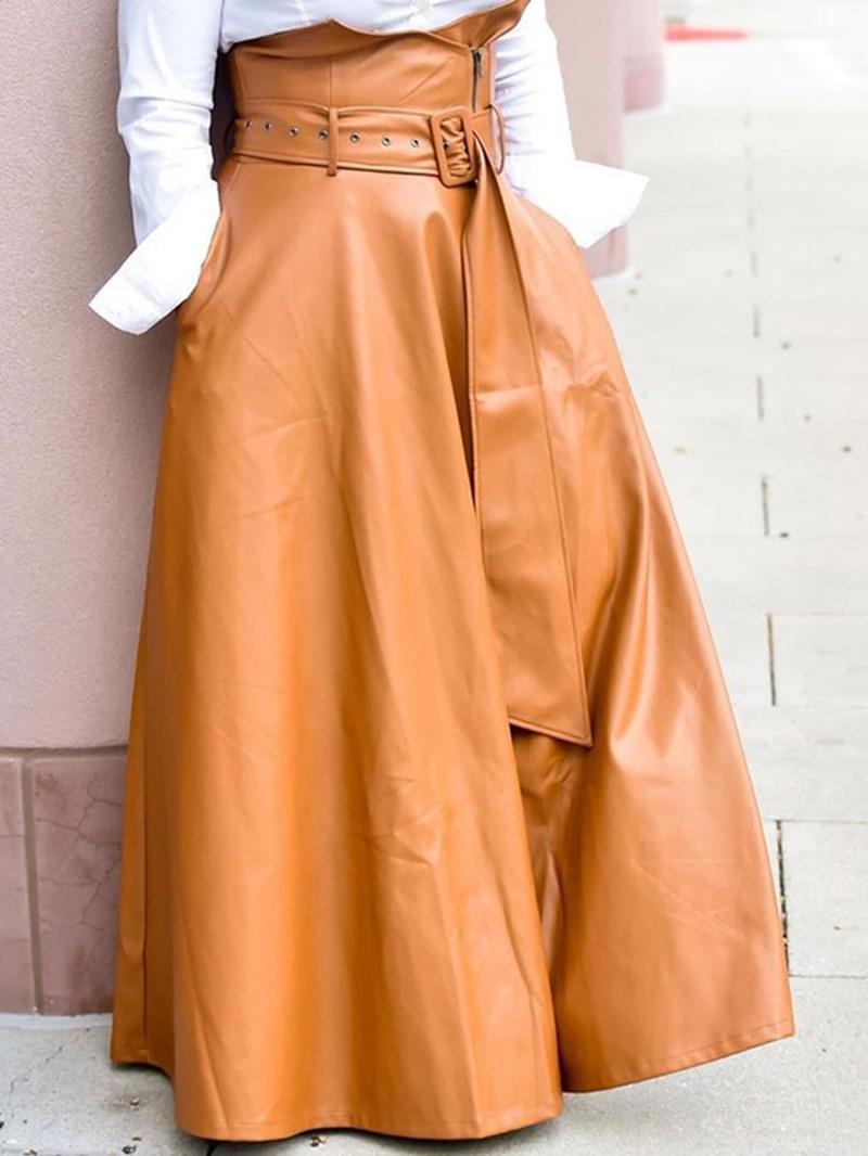Ericdress A-Line Floor-Length Plain Fashion Skirt