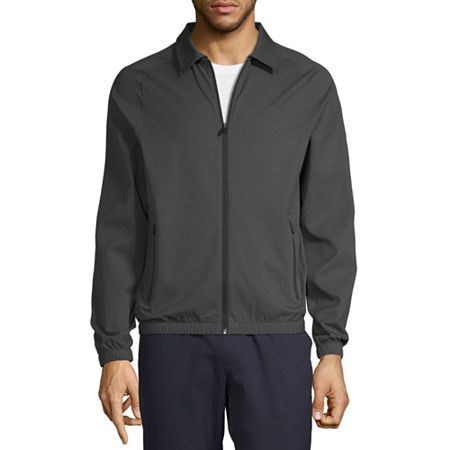 Msx By Michael Strahan Twill Midweight Track Jacket, X-large , Black