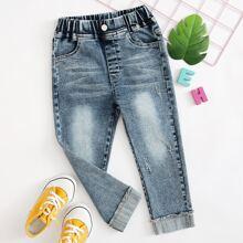 Toddler Girls Ripped Straight Leg Jeans