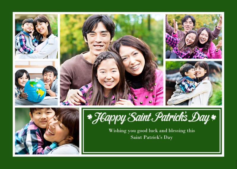St. Patrick's Day Cards Flat Glossy Photo Paper Cards with Envelopes, 5x7, Card & Stationery -Saint Patrick's Day Collage