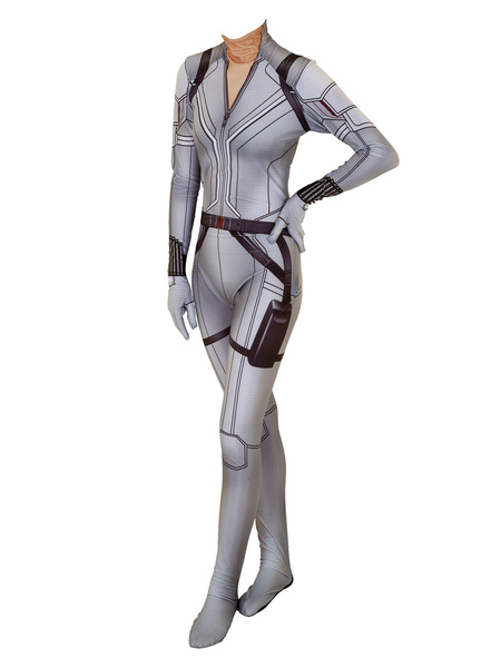 Milanoo Marvel Comics Marvel Comics Cosplay Jumpsuit White Widow Cosplay Costume