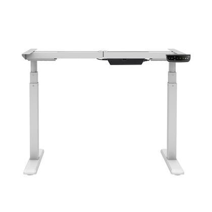 Sit-Stand Dual-Motor Height Adjustable Table Desk Frame, Electric - Monoprice® - White