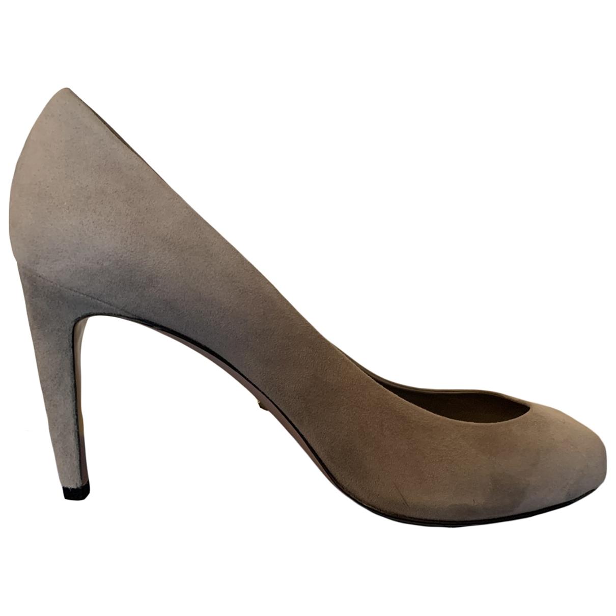 Gucci - Escarpins   pour femme en suede - gris