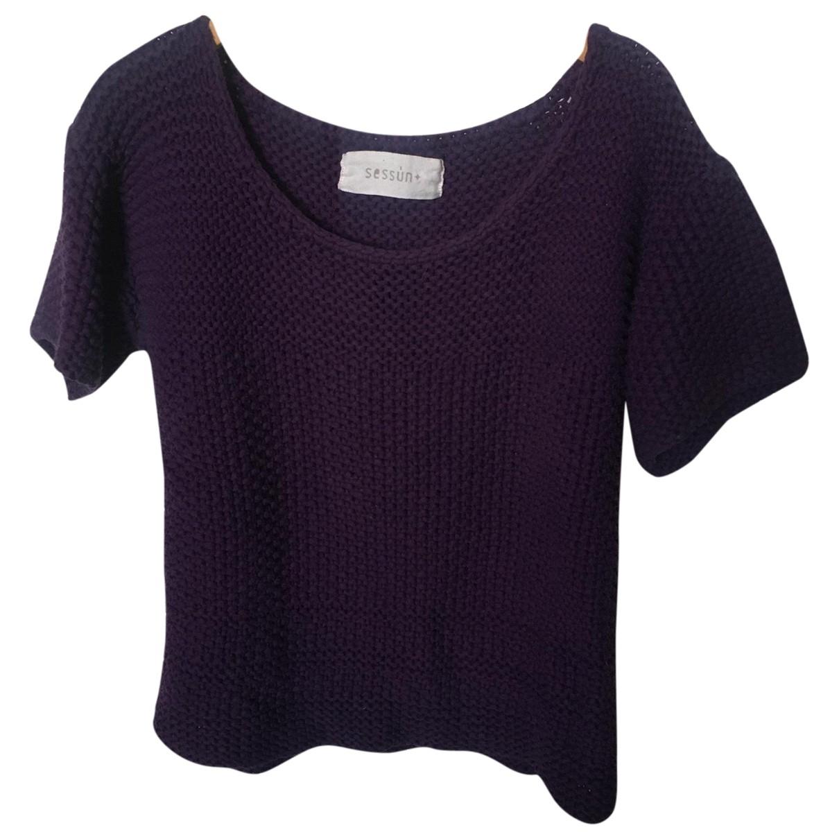Sessun \N Pullover in  Lila Baumwolle