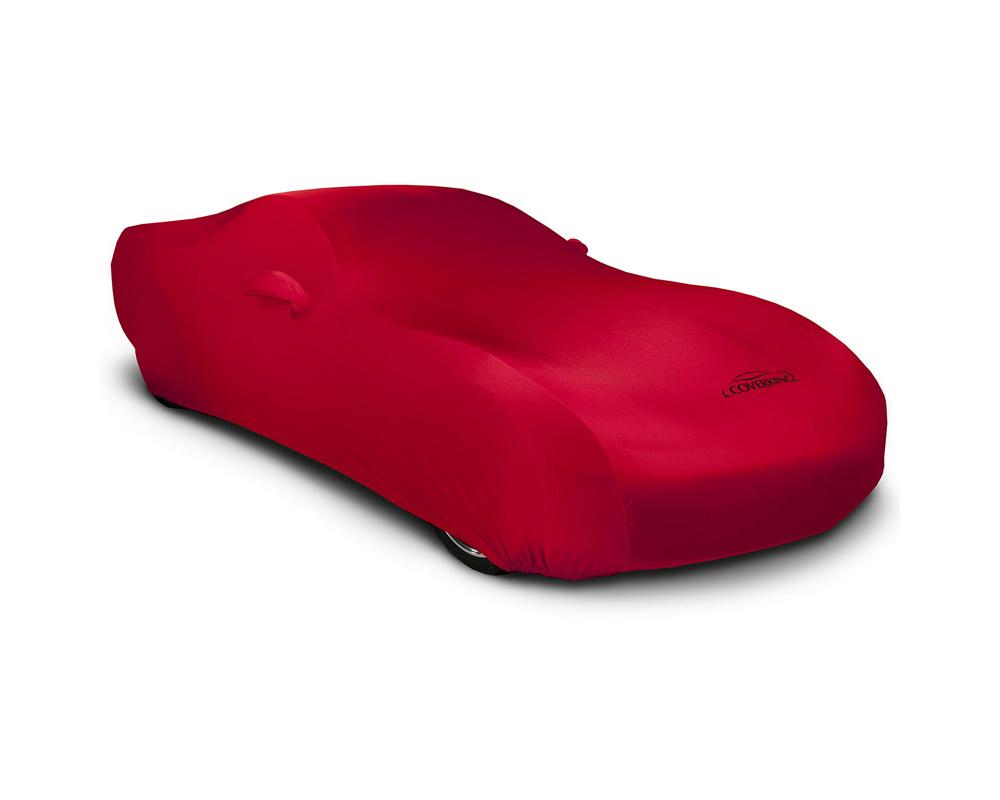 Coverking CVC3SS94CH9615 CVC3SS94 Coverking CVC3SS94CH9615 Satin Stretch Red Class 3 Custom Car Cover Chevrolet Corvette 2014-2021