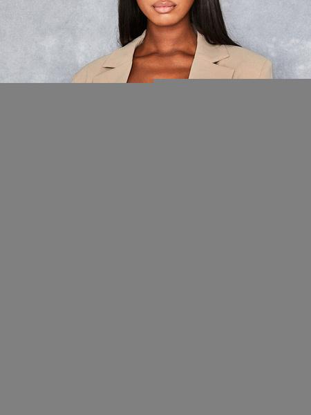 Milanoo Women White Blazer Chic Turndown Collar Long Sleeve Double Breasted Blazers