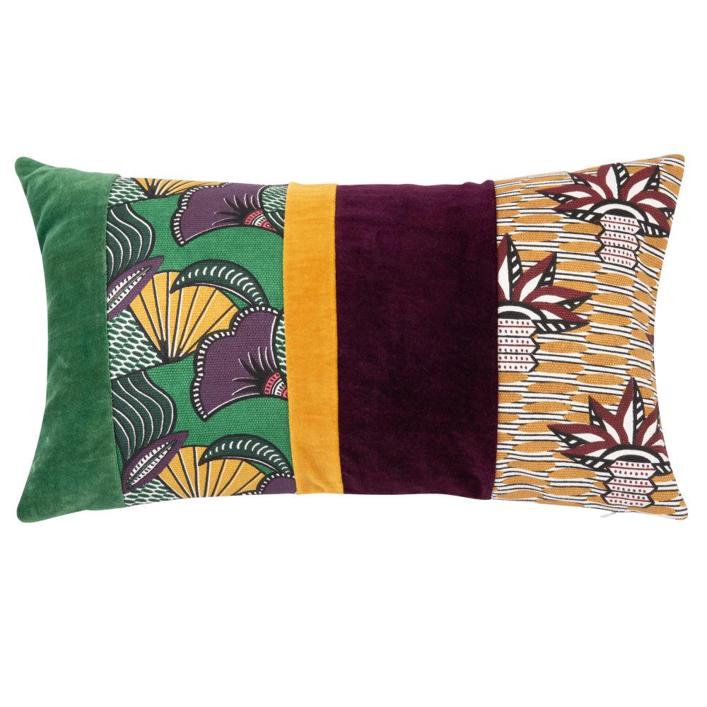 Kissenbezug aus Baumwolle, mehrfarbig bedruckt 50x30