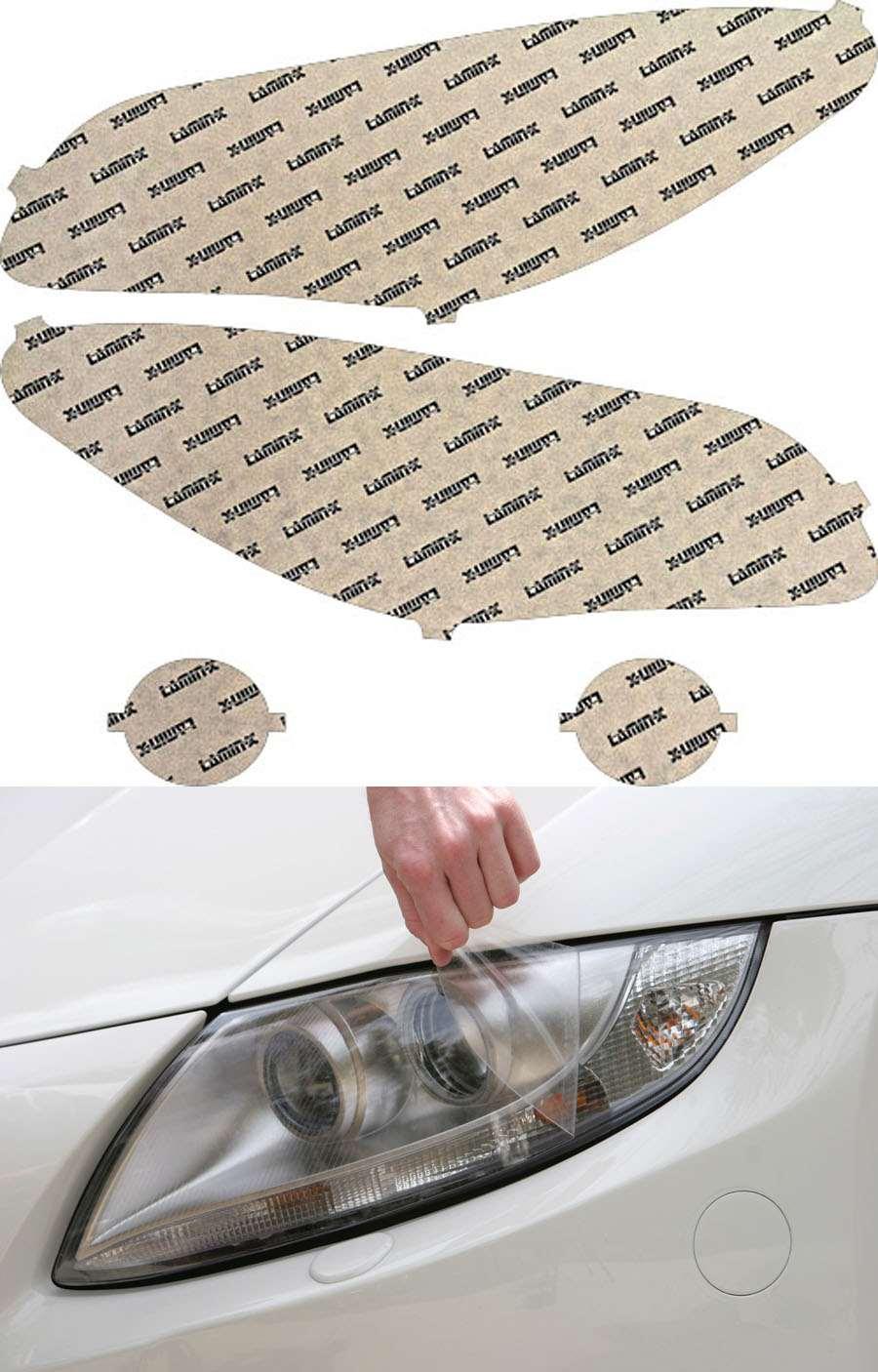 BMW 5-Series M-Sport F10 10-16 Clear Headlight Covers Lamin-X B535CL