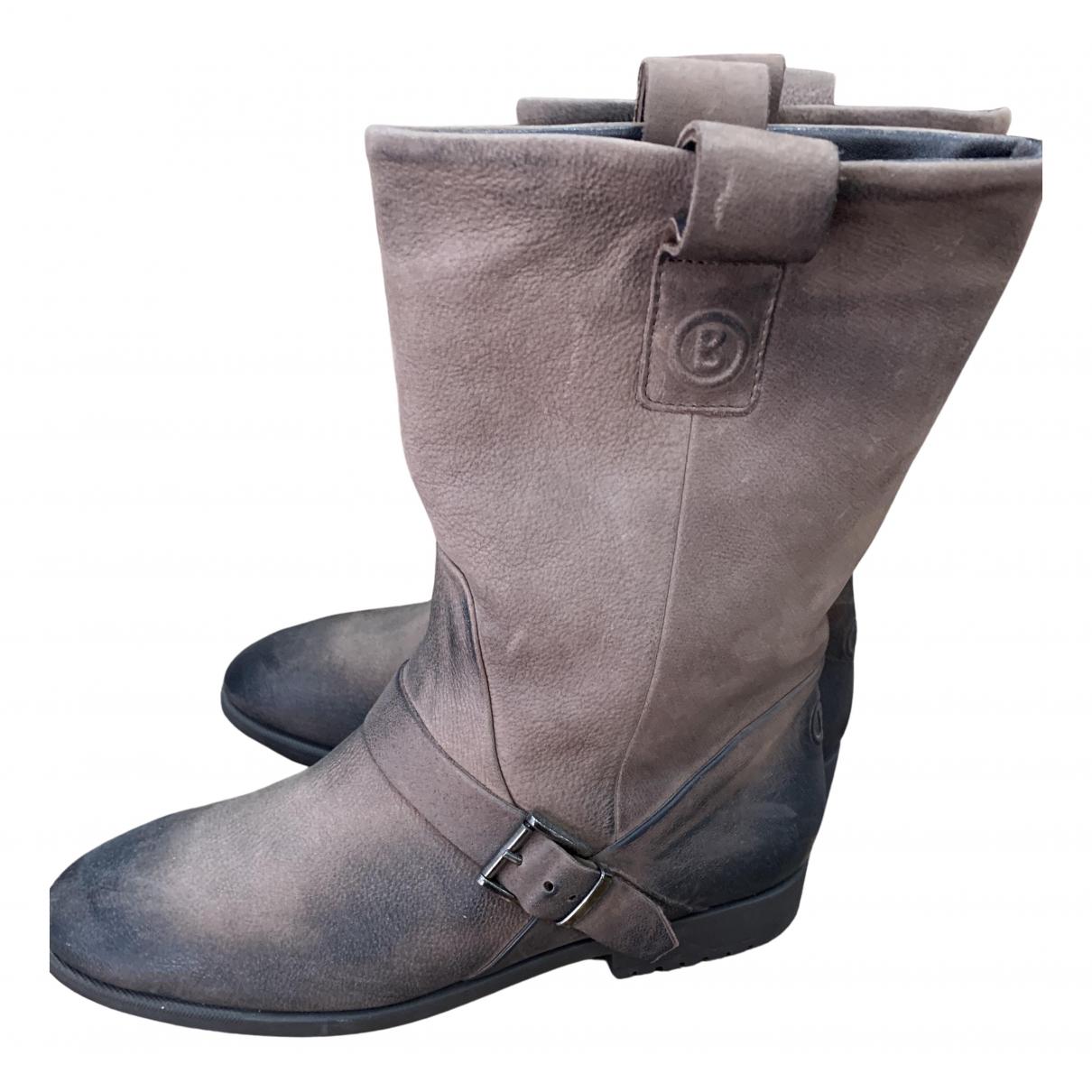 Bogner \N Stiefel in  Braun Leder