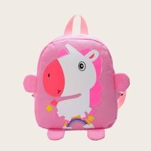 Girls Cartoon Unicorn Pattern Backpack