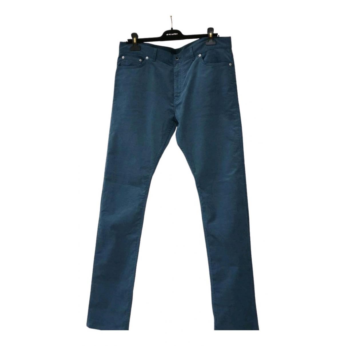 Louis Vuitton \N Blue Cotton Jeans for Men 36 US