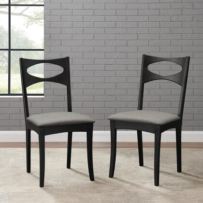 CHMCM2BL Mid Century Modern Upholstered Seat Dining Chair  Set of 2 in