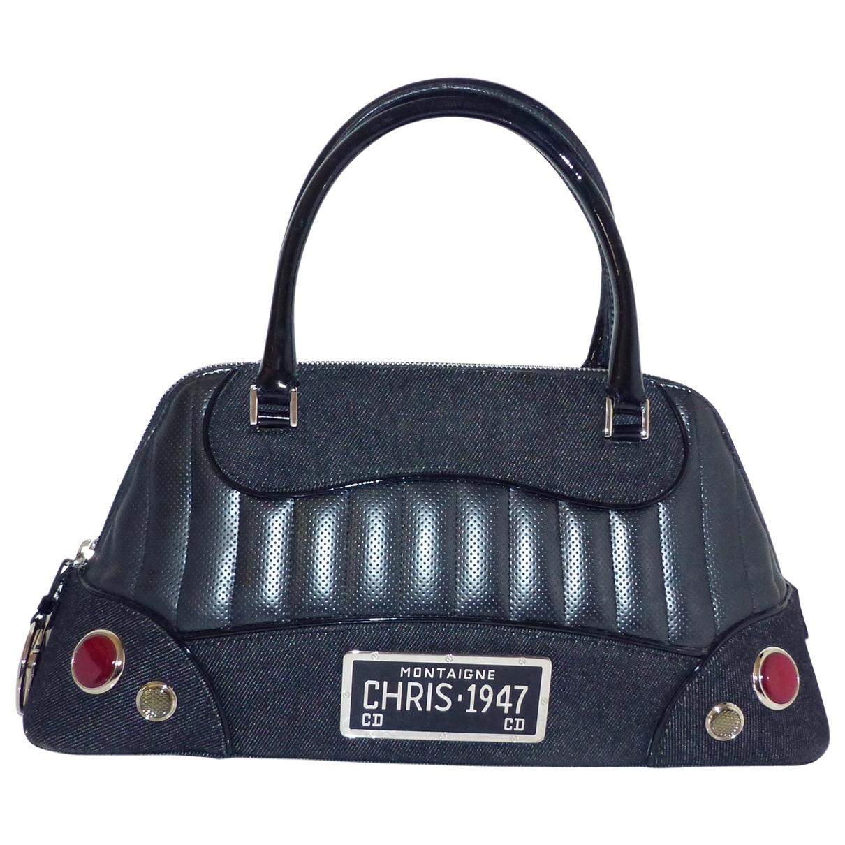 Dior Cadillac  Handtasche in  Schwarz Denim - Jeans