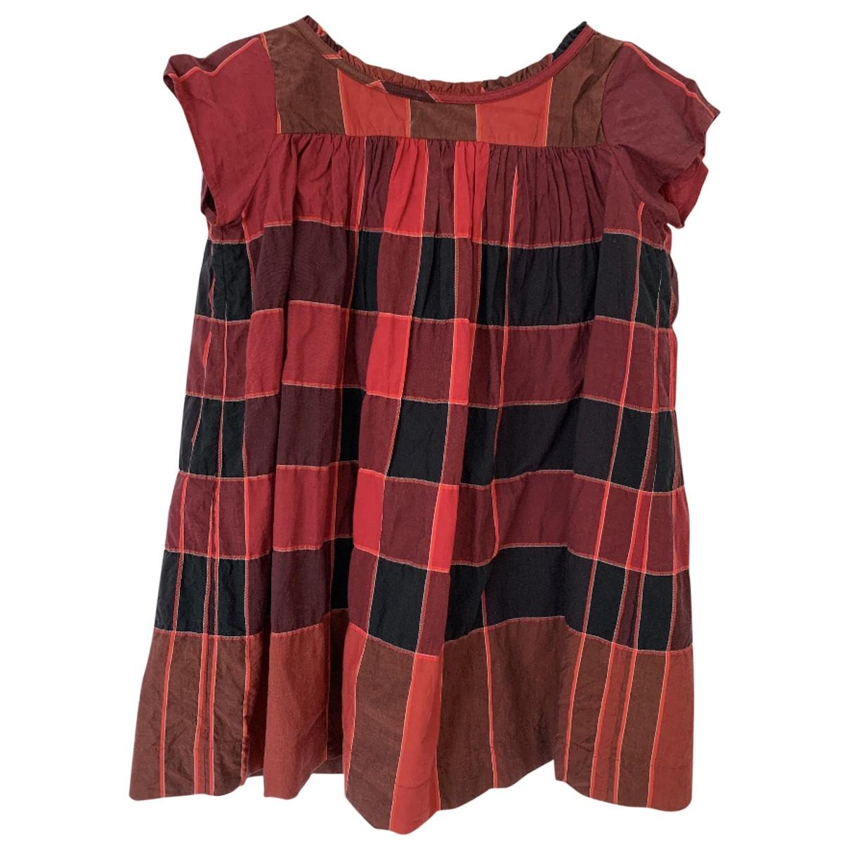Burberry \N Kleid in  Bordeauxrot Baumwolle