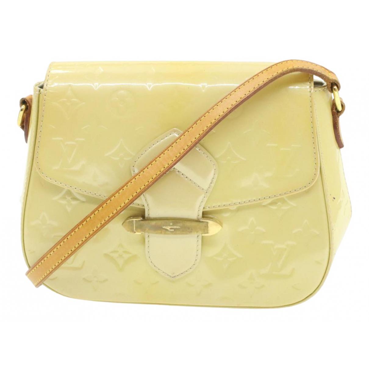 Louis Vuitton - Sac a main Bellflower pour femme en cuir verni - beige