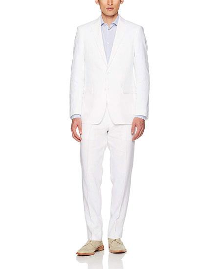 Mens White Linen Suit Separates Sale