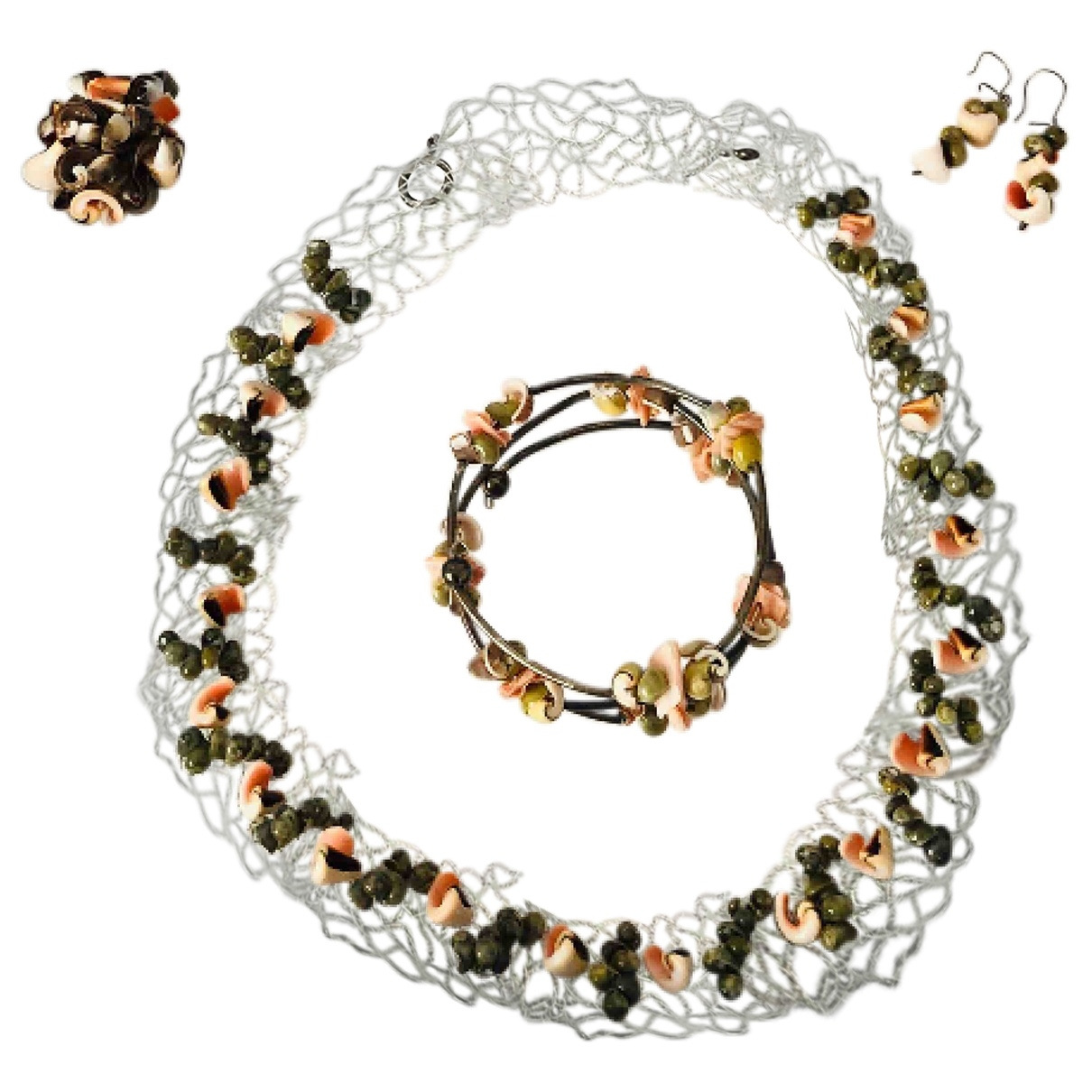 Non Signé / Unsigned \N Multicolour Metal Jewellery set for Women \N