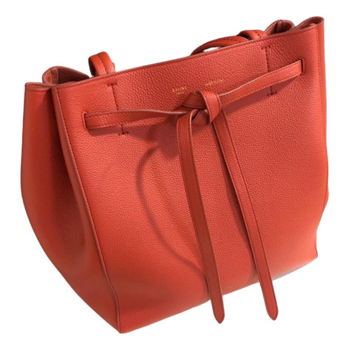 Celine Cabas Phantom Red Leather handbag for Women \N