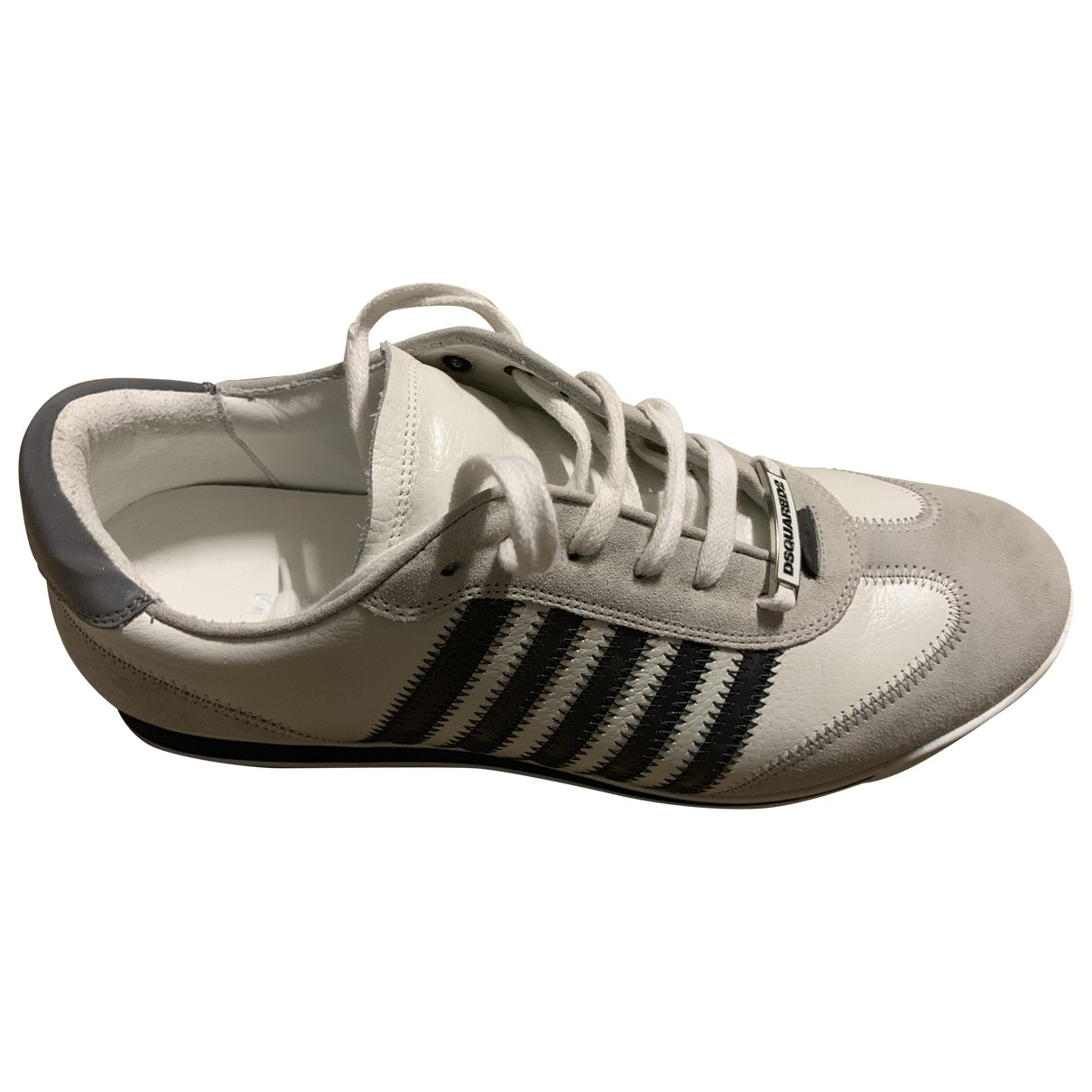 Dsquared2 \N White Leather Trainers for Men 44 EU